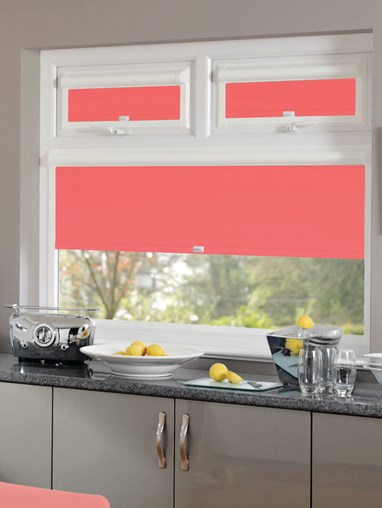 Blackout Bright Coral Perfect Fit Roller Blind