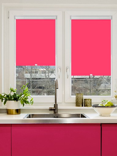 Blackout Flamingo Pink Perfect Fit Roller Blind