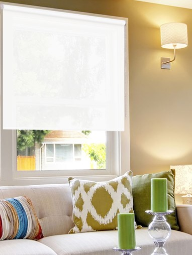 White Sunscreen Ready Made Roller Blind