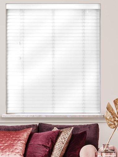 Gloss White 50mm Real Wood Venetian Blind