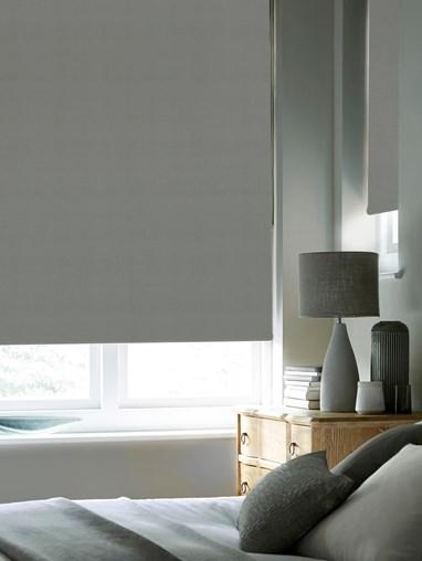 Elegant Grey Premium Blackout Thermal Roller Blind