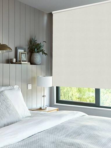 Pale Grey Premium Blackout Thermal Roller Blind