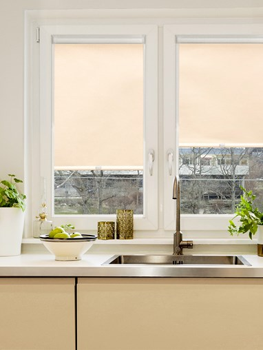 Thermal Sandstone Cream Perfect Fit Roller Blind