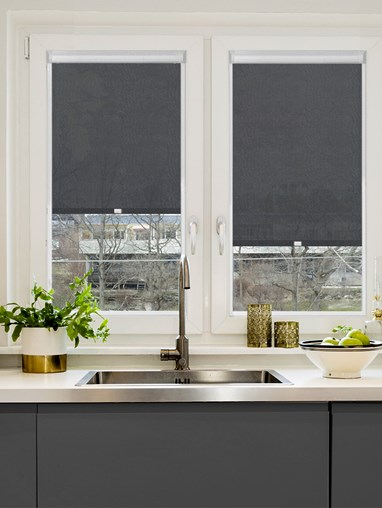 Slate 1% Sunscreen Perfect Fit Roller Blind