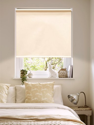 Sandstone Cream Thermal Cordless Spring Loaded Roller Blind
