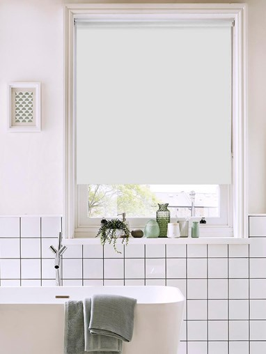 Pearl Grey Bathroom Roller Blind