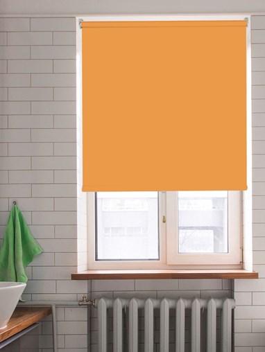 Tangerine Blackout Cordless Spring Loaded Roller Blind