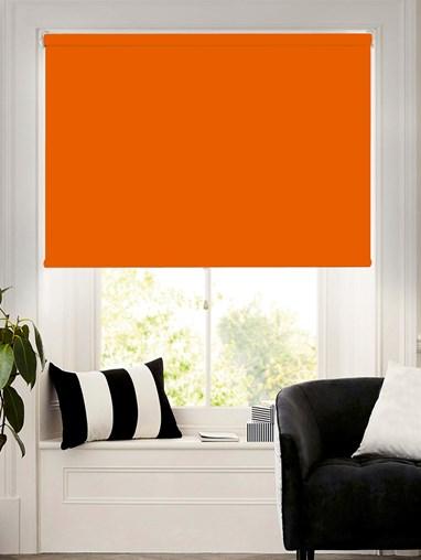 Action Orange Blackout Cordless Spring Loaded Roller Blind
