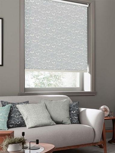 Saplings Cloud Grey Roller Blind By Miss Print