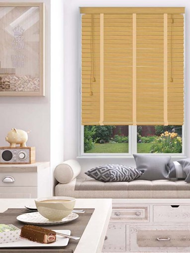 Mellow Pine Sherwood Premium Venetian Blind With Tapes