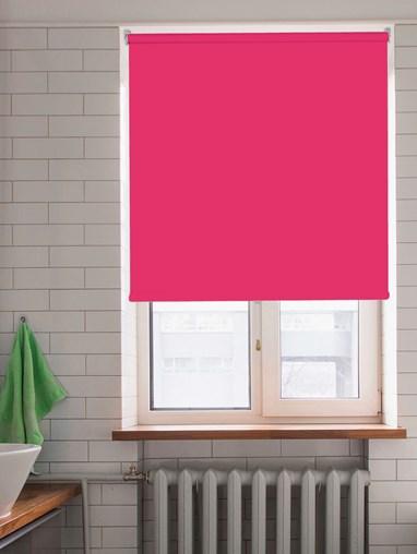 Shock Pink Blackout Cordless Spring Loaded Roller Blind