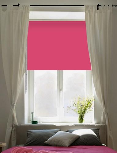 Shock Pink Blackout Thermal Roller Blind