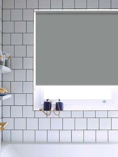 Steel Wool Bathroom Roller Blind