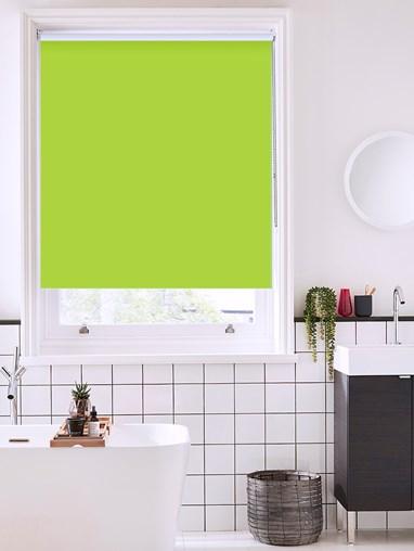 Stem Green Bathroom Roller Blind
