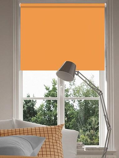 Tangerine Blackout Thermal Roller Blind