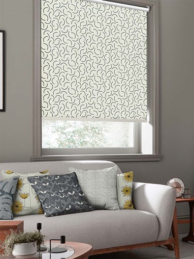 Tarn Chinagraph Roller Blind By Miss Print