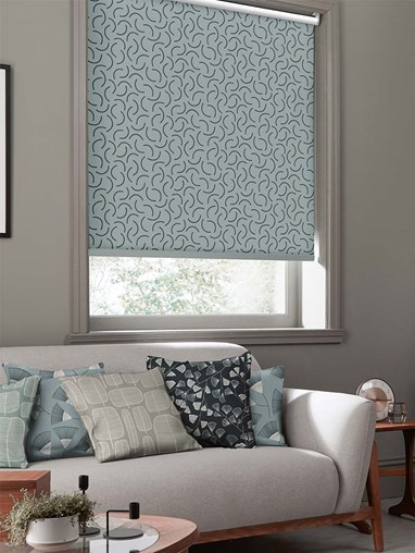 Tarn Tempest Roller Blind By Miss Print