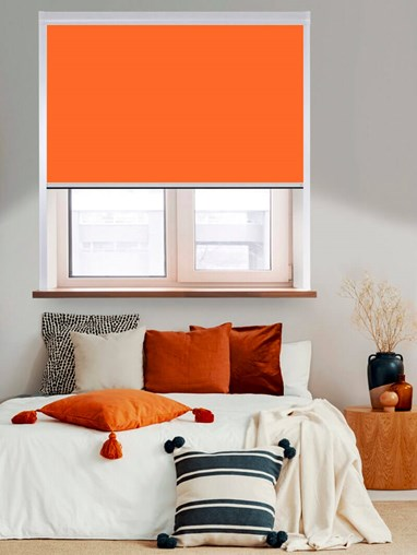 Thermal Plus Orange Total Blackout Roller Blind