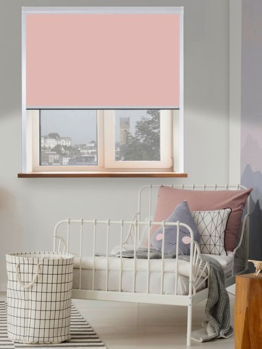 Thermal Plus Mallow Total Blackout Roller Blind
