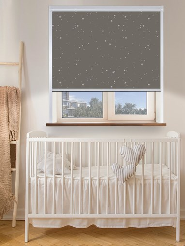 Thermal Plus Silver Stars Total Blackout Roller Blind