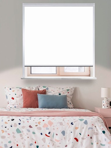 Classic White Total Blackout Roller Blind