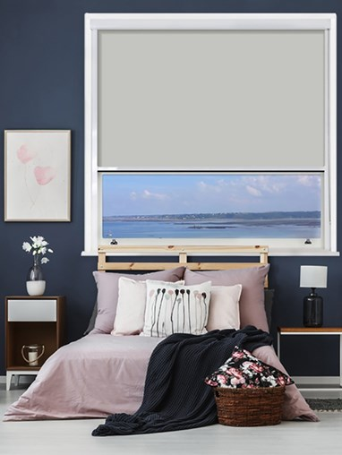 Alaskan Husky Chain Operated Total Blackout Roller Blind | For Extra Large Windows