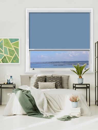Coastal Shores Chain Operated Total Blackout Roller Blind | For Extra Large Windows