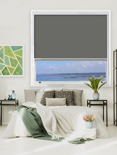 Iron Mountain Chain Operated Total Blackout Roller Blind | For Extra Large Windows