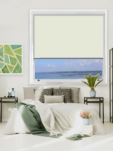 Ivory Chain Operated Total Blackout Roller Blind | For Extra Large Windows