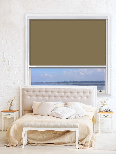 Toffee Crunch Chain Operated Total Blackout Roller Blind | For Extra Large Windows