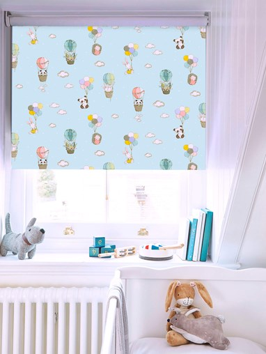 Up Up and Away Blackout Cordless Spring Loaded Roller Blind