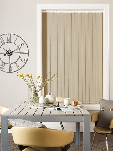 Taupe Blackout 89mm Vertical Blind Replacement Slats