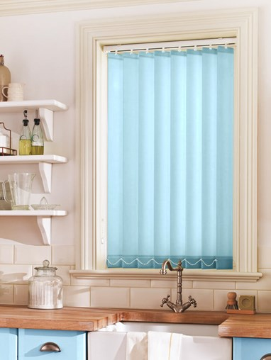Baby Blue Daylight 89mm Vertical Blind Replacement Slats
