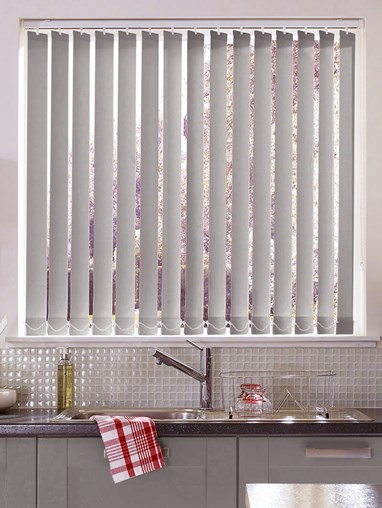 Chrome Daylight 89mm Vertical Blind Replacement Slats