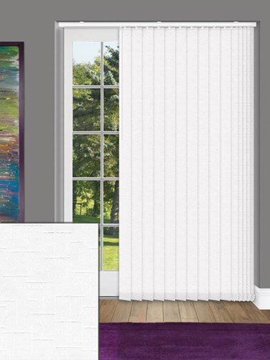 Gridlock White 89mm Dim-Out Vertical Blind