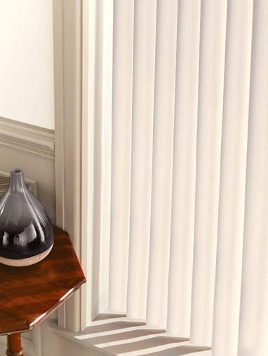 Matte Dove Rigid PVC 89mm Vertical Blind