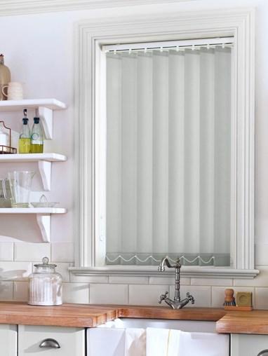 Light Grey Sheer 89mm Vertical Blind Replacement Slats