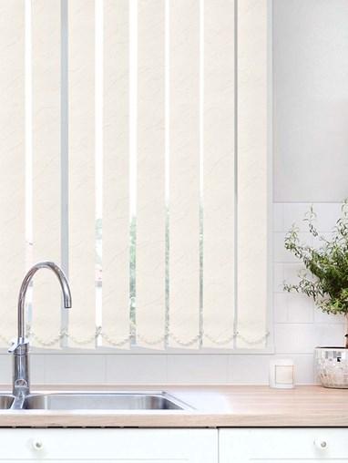 Carrara Ivory Waterproof 89mm Vertical Blind Replacement Slats