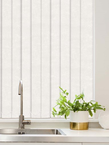 Cosmic White Waterproof 89mm Vertical Blind Replacement Slats
