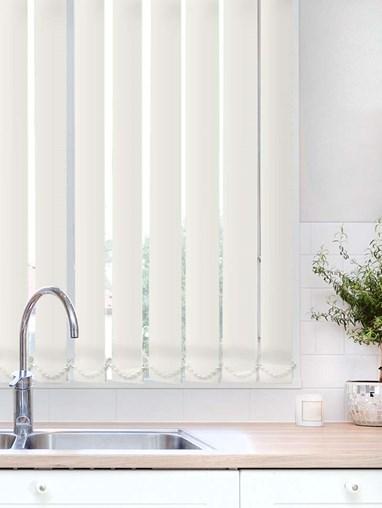 Pearl Plain Waterproof 89mm Vertical Blind Replacement Slats
