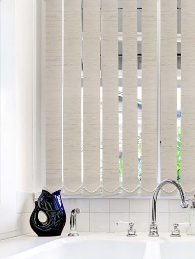 Contrast Taupe Waterproof 89mm Vertical Blind Replacement Slats