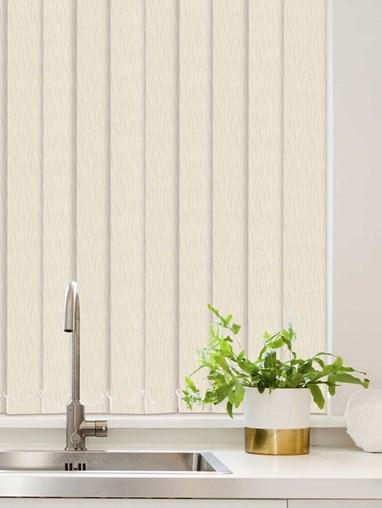 Regal Cream Waterproof 89mm Vertical Blind Replacement Slats