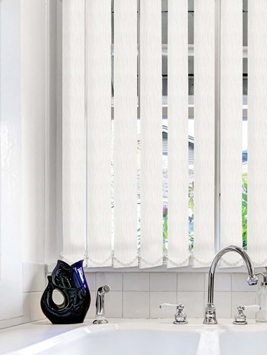 Regal White Waterproof 89mm Vertical Blind Replacement Slats