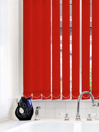 Scarlet Plain Waterproof 89mm Vertical Blind Replacement Slats