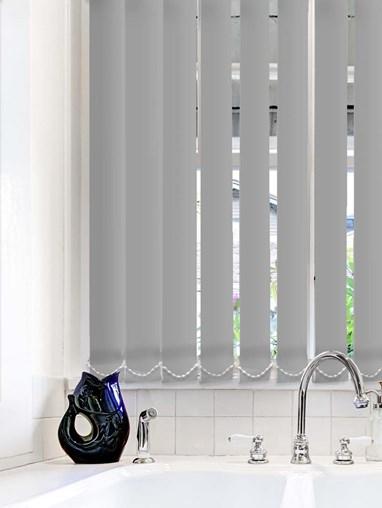 Steel Wool Plain Waterproof 89mm Vertical Blind Replacement Slats