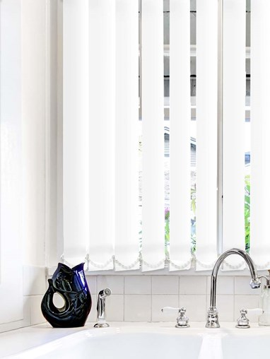 White Plain Waterproof 89mm Vertical Blind Replacement Slats