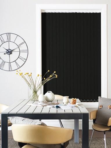 Black Blackout 89mm Vertical Blind Replacement Slats