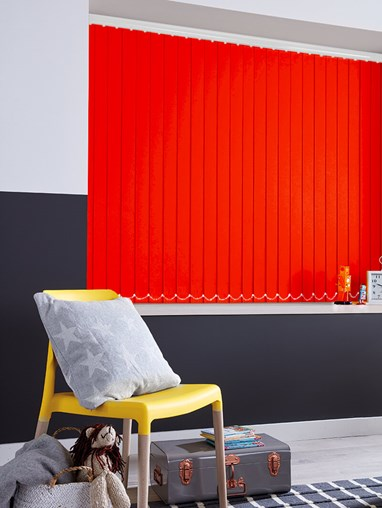 Candy Apple Red 89mm Blackout Vertical Blind