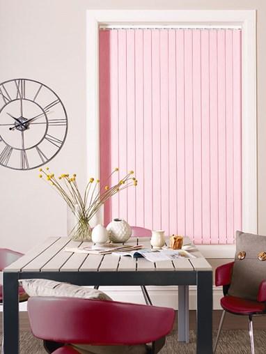 Mochi Pink Blackout 89mm Vertical Blind Replacement Slats