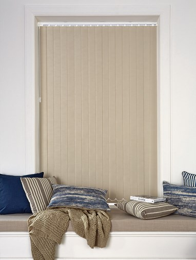 Smoke Blackout 89mm Vertical Blind Replacement Slats